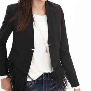 Banana Republic Fringe Crop Jacket